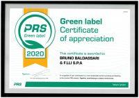 "Baldassari Cavi News: Certificato ""PRS Green Label"""